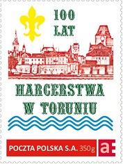 100 LAT HARCERSTWA W TORUNIU - mójZNACZEK